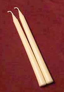 Pair of 10-inch Beeswax Tapers