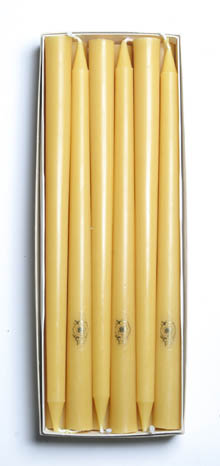 Box of 13-inch Beeswax Tapers