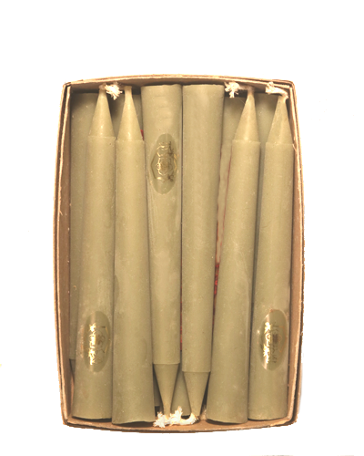 Box of 6.5-inch Beeswax Tapers