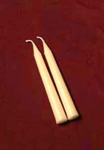 Pair of 6.5-inch Beeswax Tapers