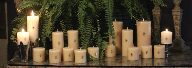 Pure Beeswax Column Candles