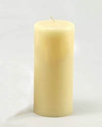 3x7-inch beeswax column candle